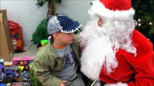 older boy with Santa
