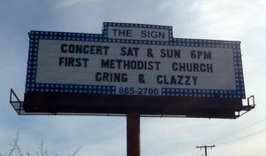 cring and clazzy billboard