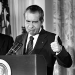 nixon thumbs up