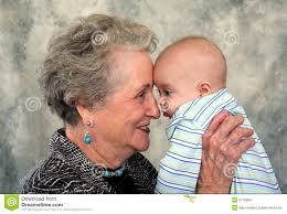 baby and great grandma