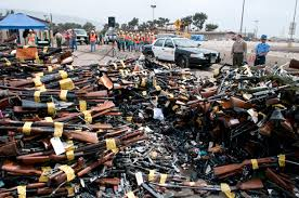 guns in dumpster