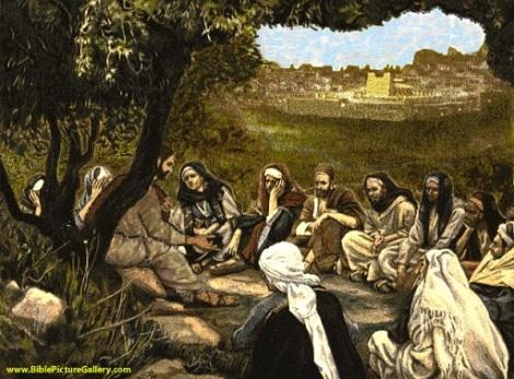 Jesus teaching the disciples