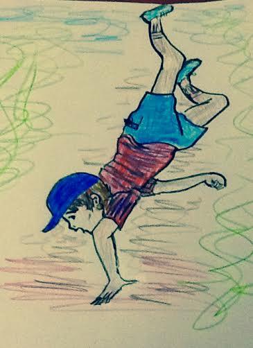 Confessing boy falling