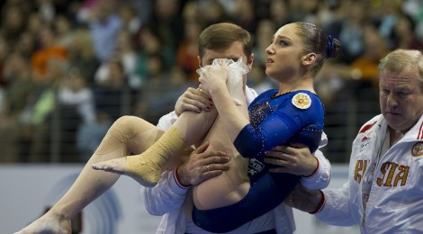 Gymnast with coach
