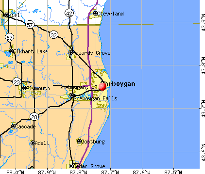 map of Sheboygan